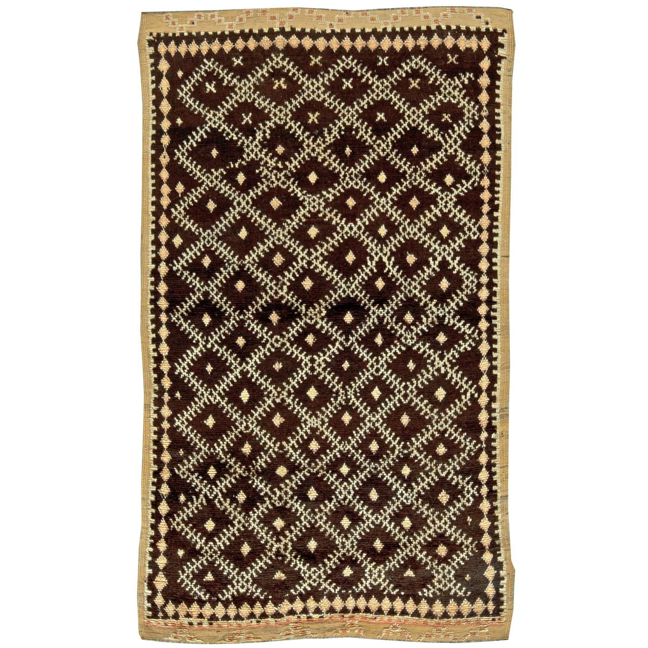Tribal Moroccan Rug, circa 1940s