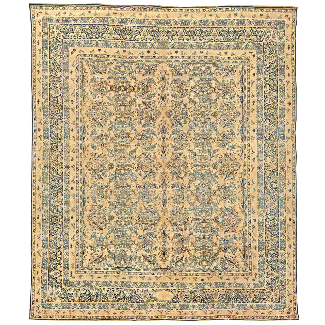 Antique Persian Kirman Rug, circa 1900