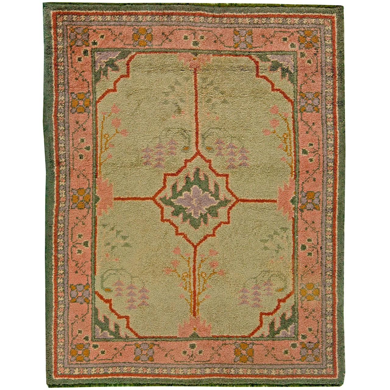 vintage arts and craft rug by voysey at 1stdibs. Black Bedroom Furniture Sets. Home Design Ideas