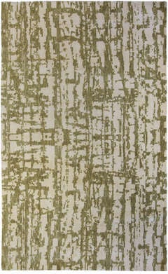 Green Element- Wool and Silk Custom Rug