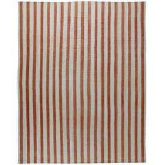 Vintage Dhurrie Rug with Stripes