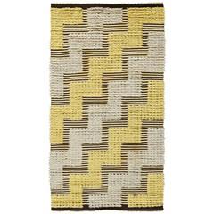 Vintage Swedish Half-Pile Rug
