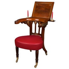 A Very Fine Rosewood and Brass Inlaid Regency Library Reading Chair