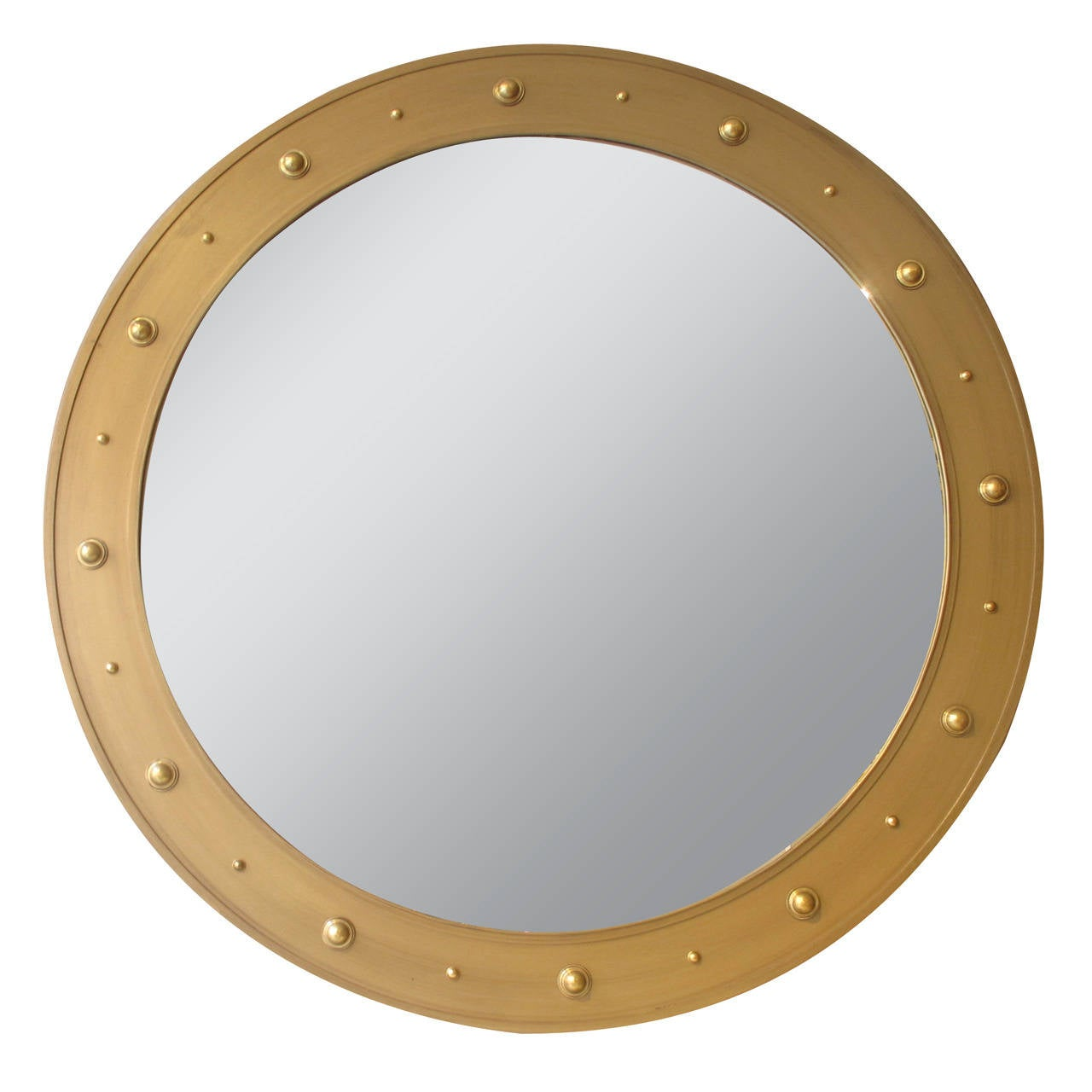 Contemporary Gold Painted Mirror With Bosses At 1stdibs