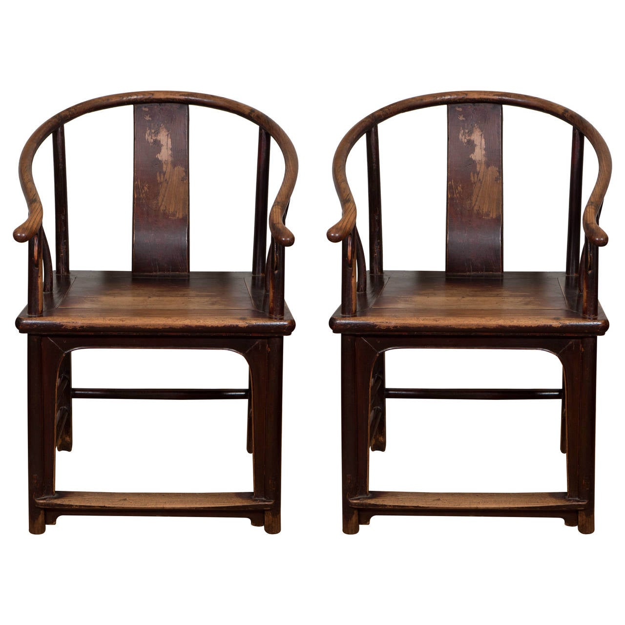 A pair of 18th century chinese horseshoe chairs at 1stdibs for Chinese art furniture