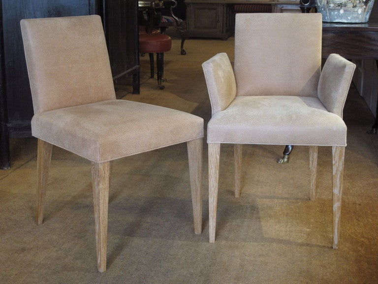 set of eight limed oak danish style dining chairs at 1stdibs