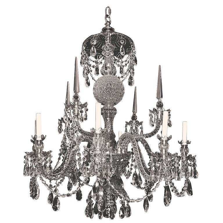 Georgian Chandelier: Georgian Style Cut Crystal Eight Light Chandelier At 1stdibs