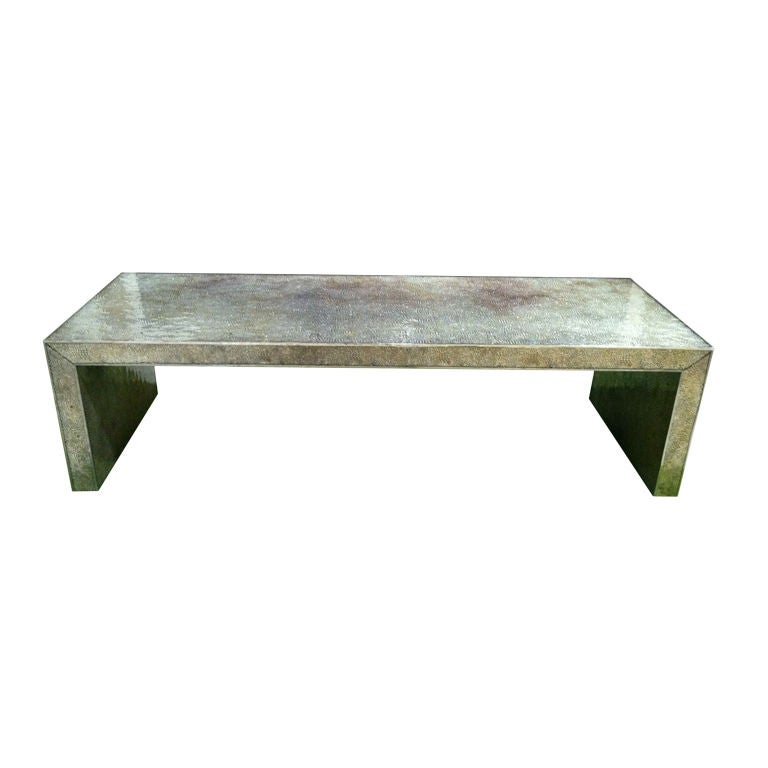 Modern bubble glass coffee table at 1stdibs for Contemporary glass cocktail tables