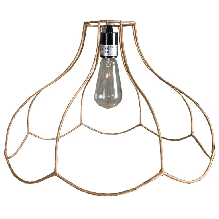 wire frame pendant light at 1stdibs