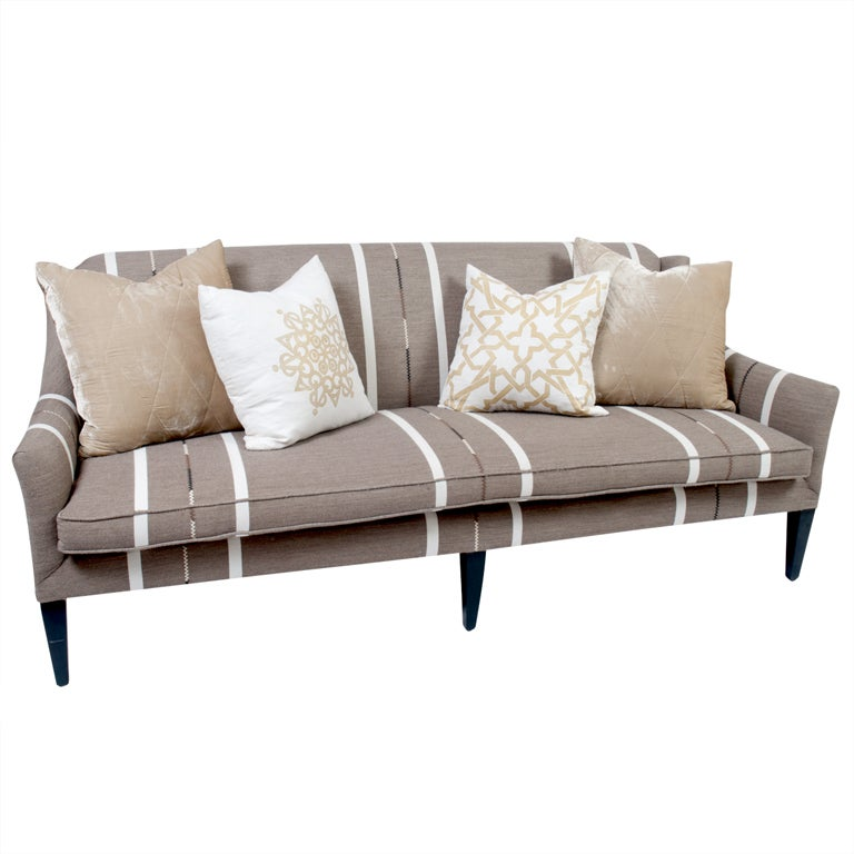 Pillows For Sectional Sofa: Bench Seat Sofa With Throw Pillows At 1stdibs