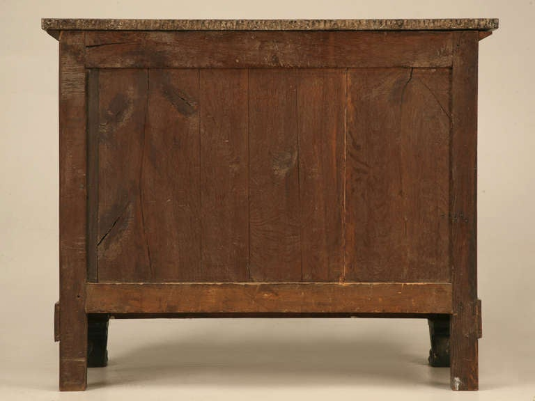 French Restauration Period Mahogany Commode with Lion Paw Feet  10