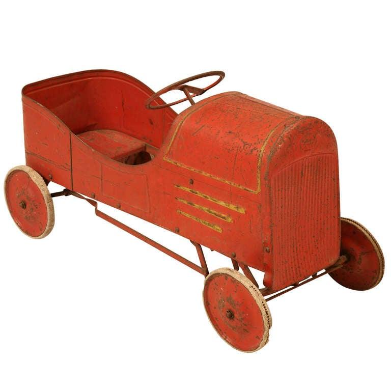 1920 S Original Paint Metal Toy Pedal Car At 1stdibs