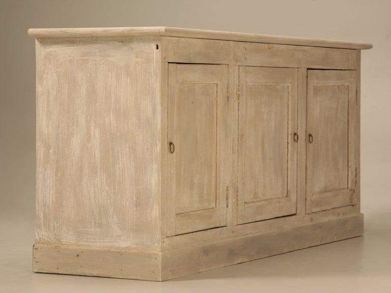 Original Paint Antique French Patisserie 3 Door Cupboard