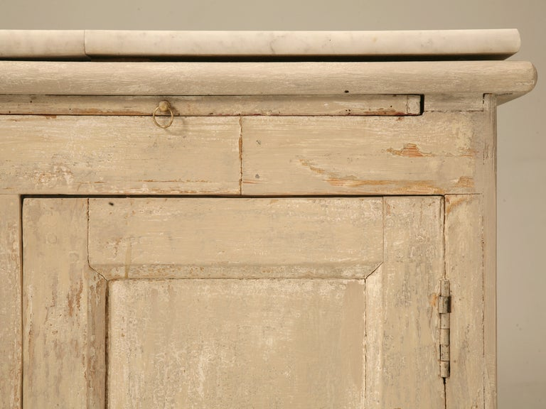 Original Paint Antique French 3 1/2 Door Pastry Counter with Marble  6