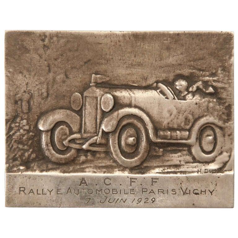 Automotive Commemorative French 1929 A.C.F.F. Paris Vichy Auto Club for Females Rallye Medal