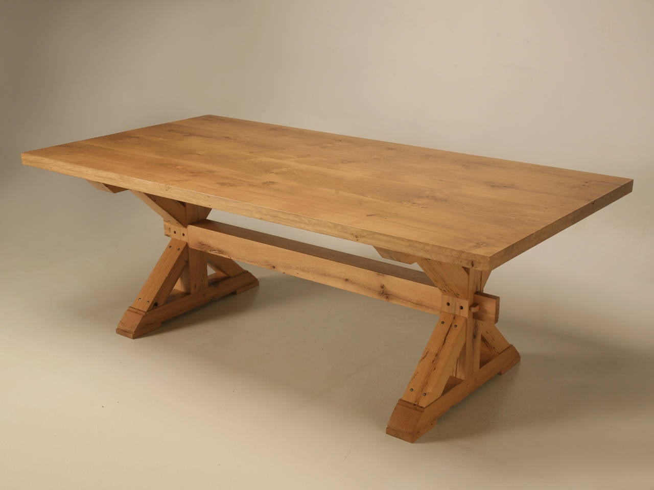 French country style kitchen island work table at 1stdibs for Country style kitchen table
