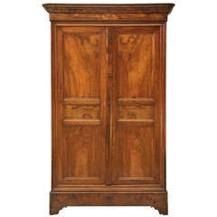 French Louis Philippe Figured Walnut Armoire-Époque