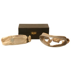 Early 20th Century Pair of Vintage Rayonnante Driving or Flying Goggles in Fitted Box