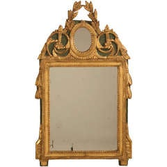 18th Century Original Paint and Gilt Mirror