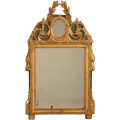 18th Century Original Paint and Gilt Mirror