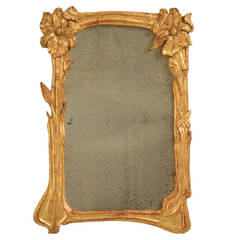 Art Nouveau Gilt Mirror
