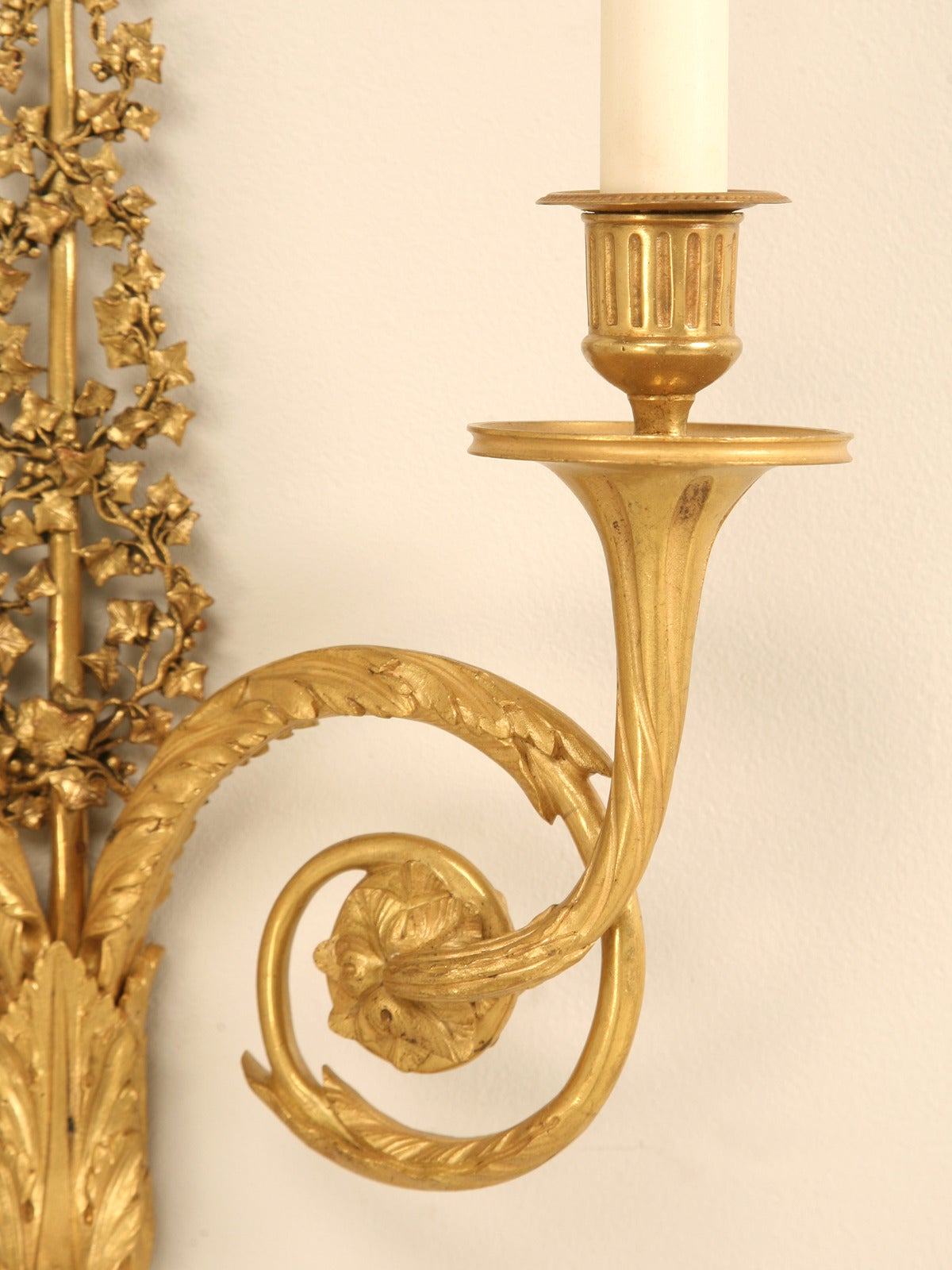 French Brass Wall Sconces : Vintage French Solid Brass Sconces at 1stdibs