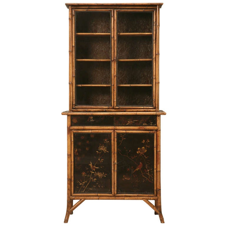 Circa 1890 english chinoiserie bamboo cabinet at 1stdibs for 1890 kitchen cabinets