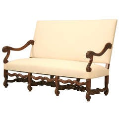 Circa 1890 French Walnut Louis XIV Sofa