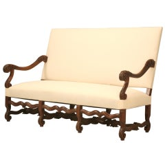 French Walnut Louis XIV Sofa, circa 1890