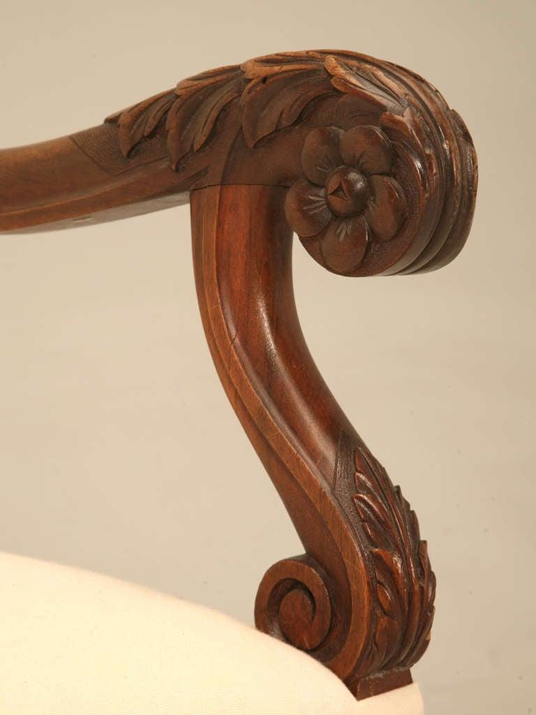 Circa 1890 French Walnut Louis XIV Sofa 6