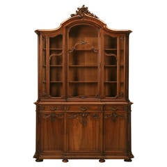 Antique French Walnut China Cabinet from Ch. Jeanselme & C° Paris