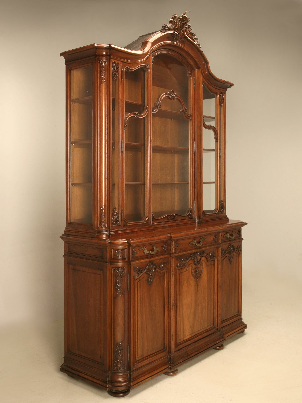 Antique french walnut china cabinet from ch jeanselme and c paris at 1stdibs - Cabinet medical paris 15 ...