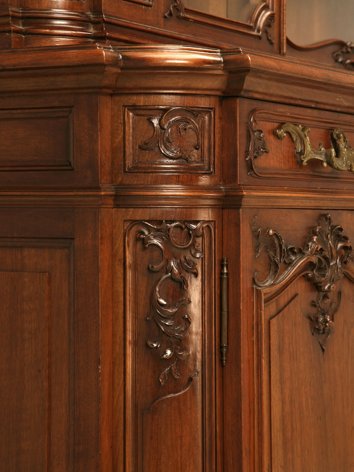 Antique French Walnut China Cabinet From Ch Jeanselme And C 176 Paris At 1stdibs