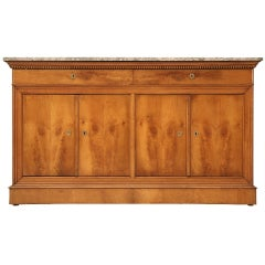 Original Antique French Louis Philippe Buffet c1825 in Cherry wood with Marble