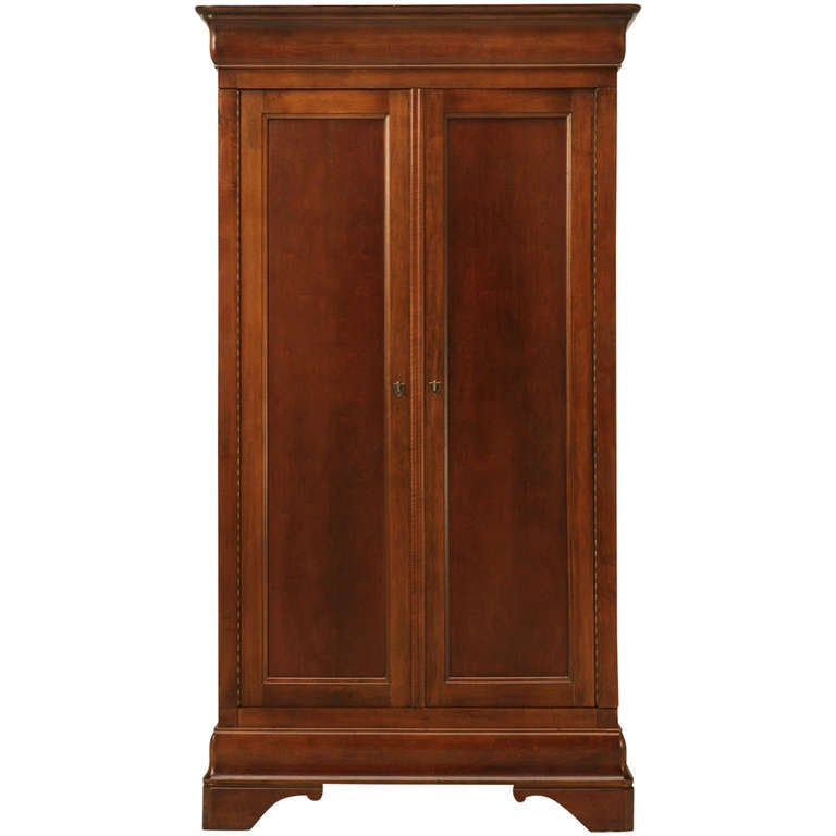 Vintage American Cherry Louis Philippe Style Armoire By Mt