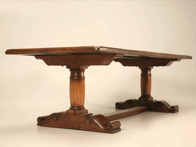 Rustic trestle farm table at 1stdibs for Table 6 2 specification for highway works