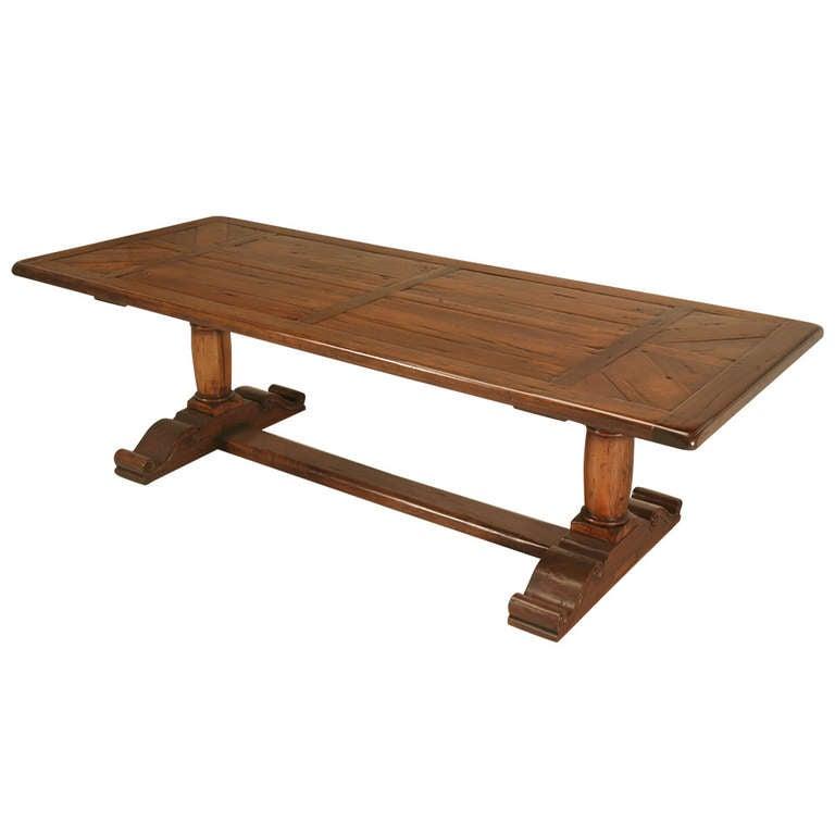 Rustic Trestle Farm Table at 1stdibs : 1069482l from www.1stdibs.com size 768 x 768 jpeg 27kB