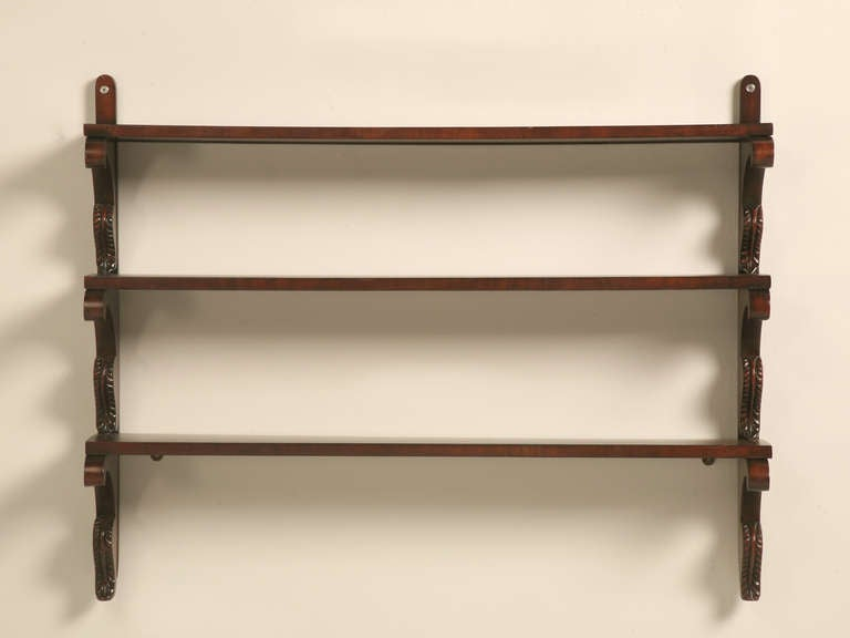 Carved French Kitchen Wall Shelf
