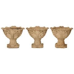 Circa 1950 American Garden Urns or Planters