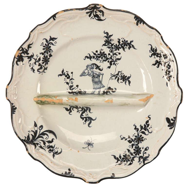Circa 1880 Asparagus Plate by Emile Galle