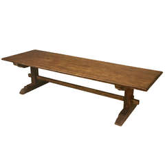 Circa 1840 Italian Trestle Farm Table