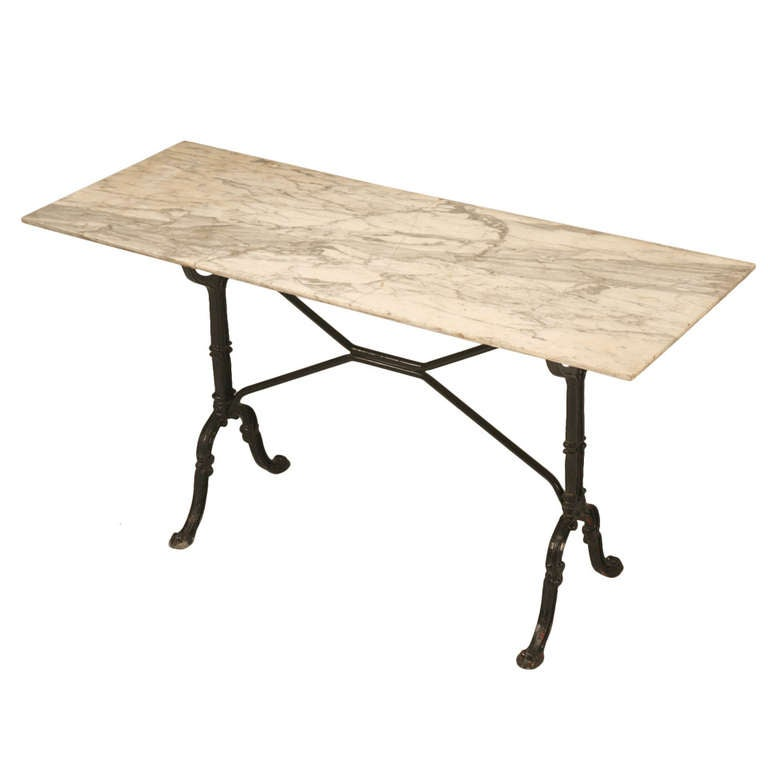 Circa 1900 French Marble Bistro Table At 1stdibs