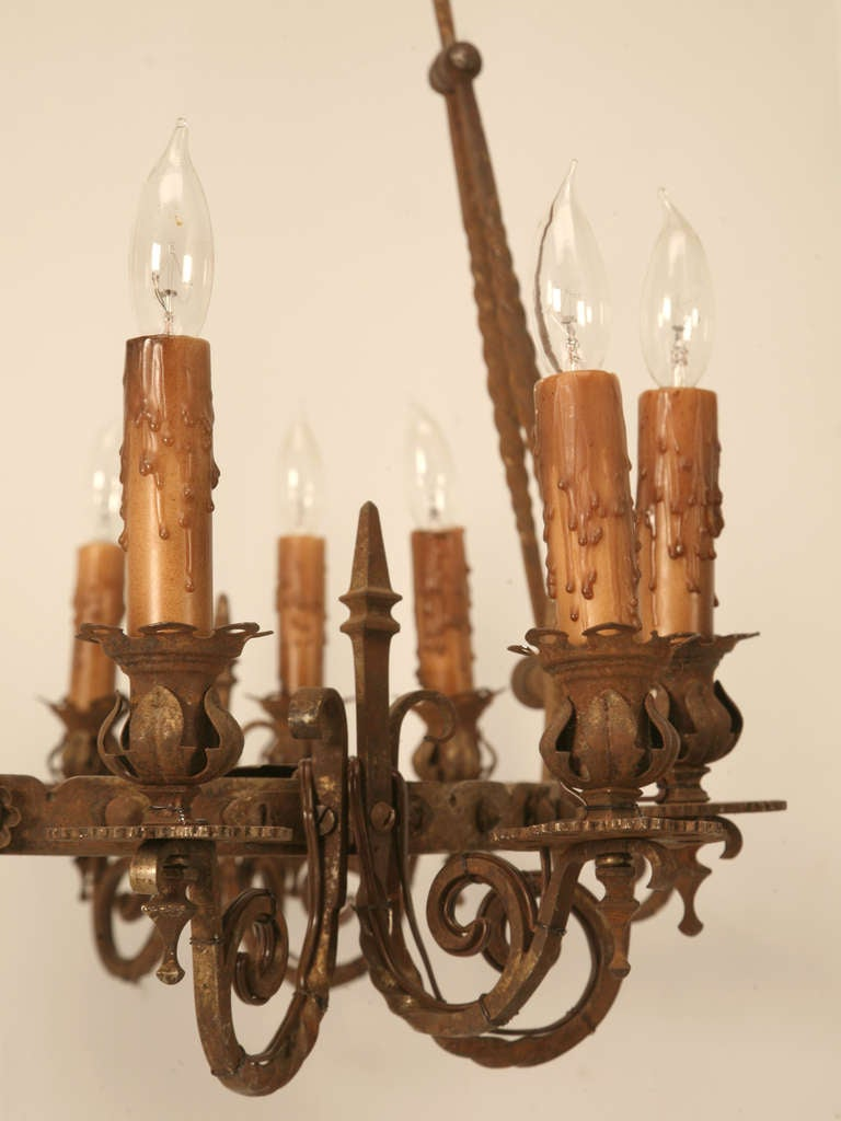 Foyer Chandelier Juice : Incredible s spanish hand forged iron light