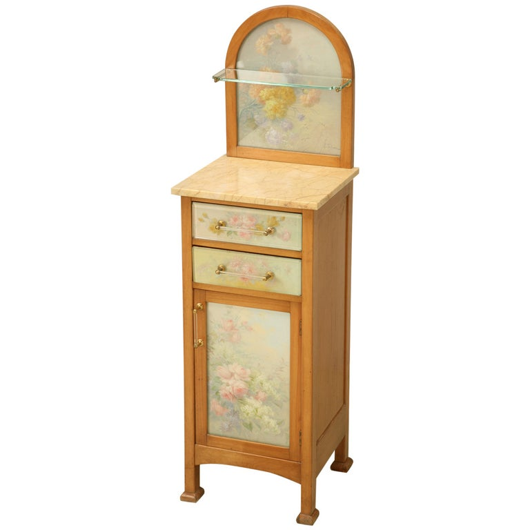 Spanish Bathroom, or Nightstand Cabinet with Paintings by Tolosa-Alsina For Sale