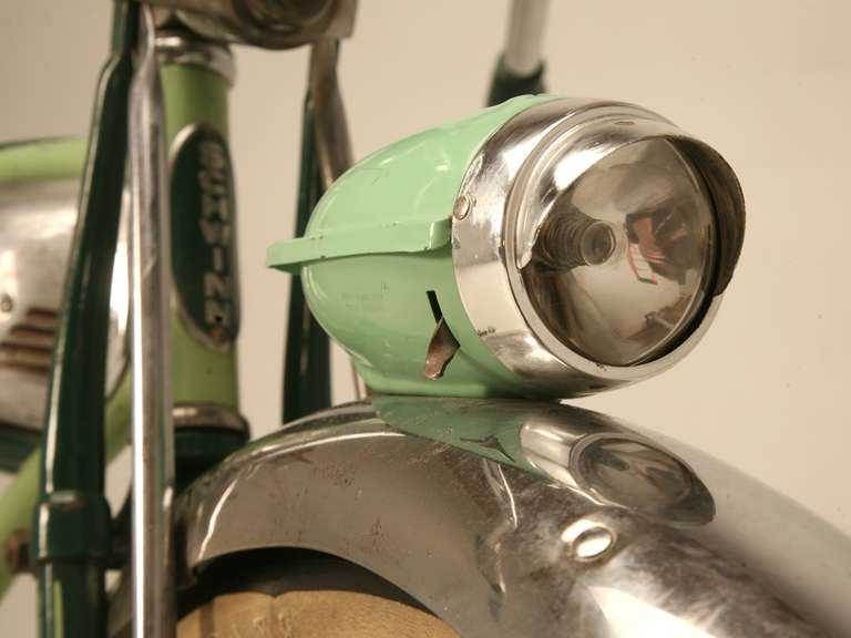 Early 1950's Original Schwinn Panther Bicycle w/Delta Rocket Ray Headlight 3