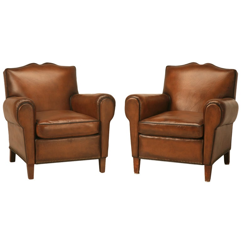 Ordinary French Club Chair #5 - Pair Fully Restored 1930u0027s French Club Chair W/Moustache Back U0026 New  Everything ...