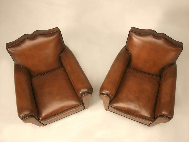 Mid-20th Century Pair Fully Restored 1930's French Club Chair w/Moustache Back & New Everything For Sale