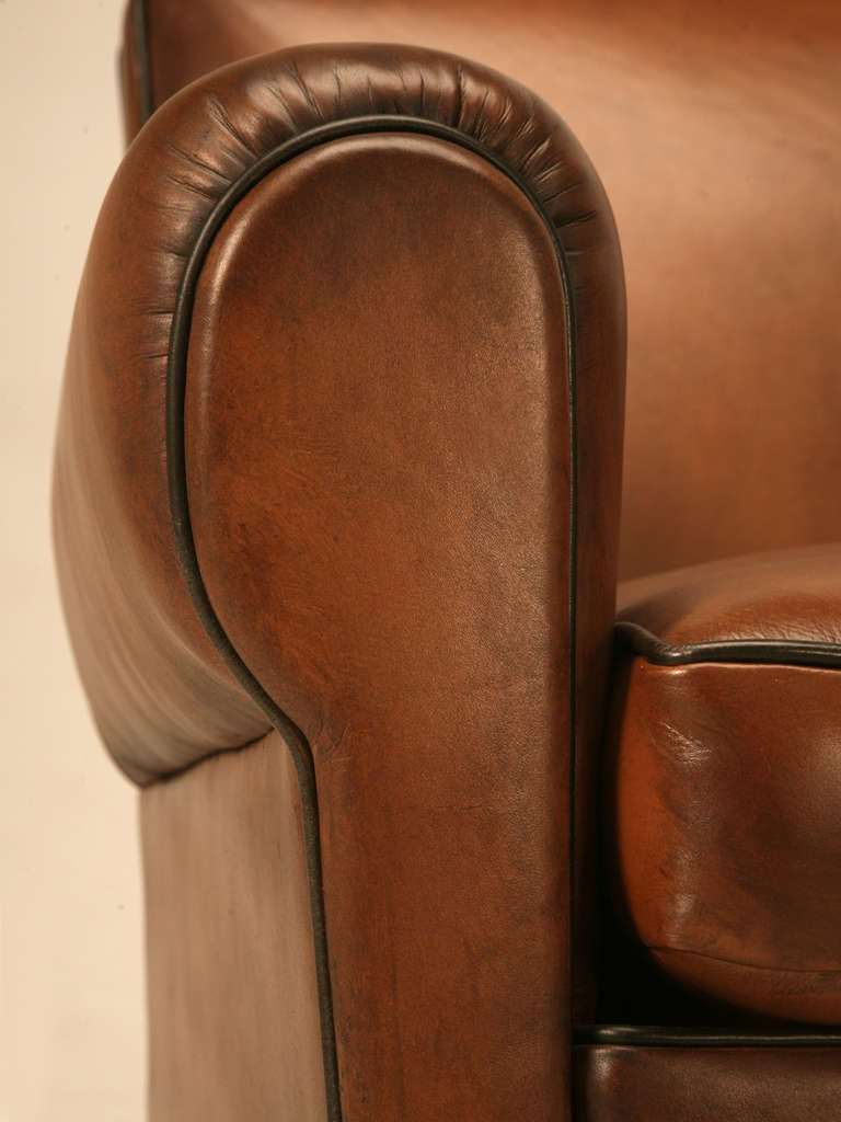 Pair Fully Restored 1930's French Club Chair w/Moustache Back & New Everything For Sale 2
