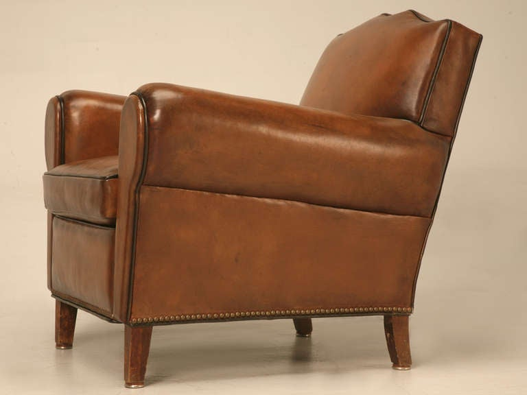 Pair Fully Restored 1930's French Club Chair w/Moustache Back & New Everything For Sale 4