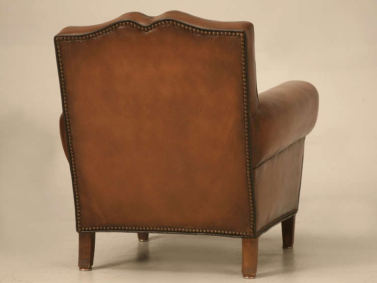 Pair Fully Restored 1930's French Club Chair w/Moustache Back & New Everything For Sale 5